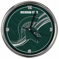 Michigan State Spartans Dynamic Chrome Clock