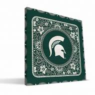 Michigan State Spartans Eclectic Canvas Print