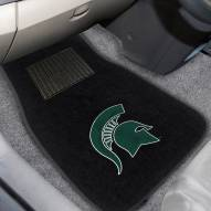 Michigan State Spartans Embroidered Car Mats