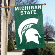 Michigan State Spartans NCAA Applique 2-Sided Banner Flag