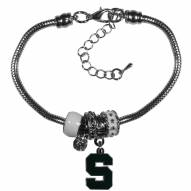 Michigan State Spartans Euro Bead Bracelet