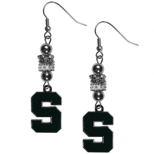 Michigan State Spartans Euro Bead Earrings