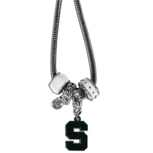 Michigan State Spartans Euro Bead Necklace