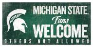 Michigan State Spartans Fans Welcome Sign