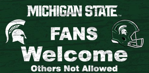 Michigan State Spartans Fans Welcome Wood Sign