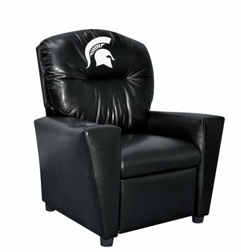 Michigan State Spartans Faux Leather Kid's Recliner