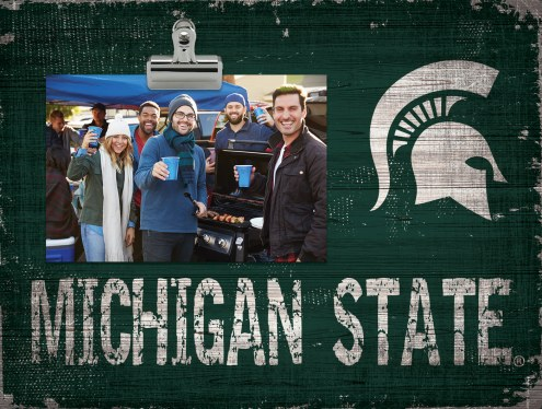 Michigan State Spartans Wood Clip Frame