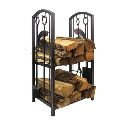 Michigan State Spartans Fireplace Wood Holder & Tool Set