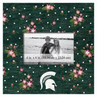 """Michigan State Spartans Floral 10"""" x 10"""" Picture Frame"""