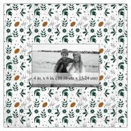 """Michigan State Spartans Floral Pattern 10"""" x 10"""" Picture Frame"""