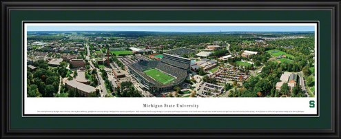 Michigan State Spartans Football Deluxe Framed Panorama