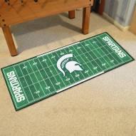 Michigan State Spartans Football Field Runner Rug