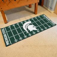 Michigan State Spartans Football Field Runner Rug