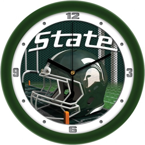 Michigan State Spartans Football Helmet Wall Clock