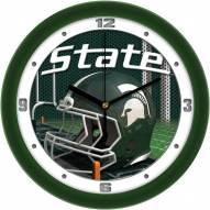 Michigan State Spartans Football Helmet Wall Clock