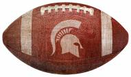 Michigan State Spartans Football Shaped Sign