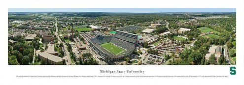 Michigan State Spartans Football Unframed Panorama