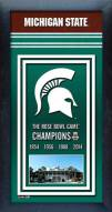 Michigan State Spartans Framed Championship Print