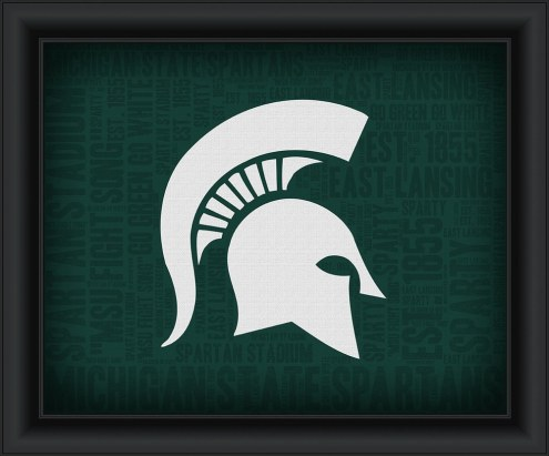 Michigan State Spartans Framed Word Cloud