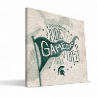 Michigan State Spartans Gameday Vibes Canvas Print