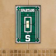 Michigan State Spartans Glass Single Light Switch Plate Cover
