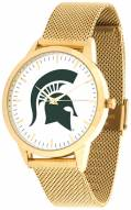 Michigan State Spartans Gold Mesh Statement Watch