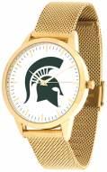 Michigan State Spartans Gold Mesh Statement Watch