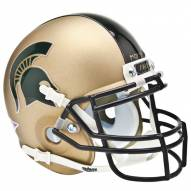 Michigan State Spartans Gold Schutt Mini Football Helmet