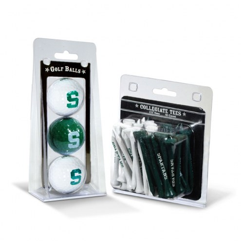 Michigan State Spartans Golf Ball & Tee Pack