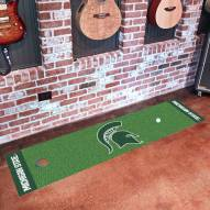 Michigan State Spartans Golf Putting Green Mat