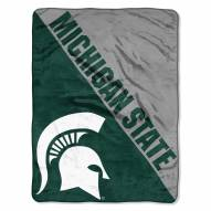 Michigan State Spartans Halftone Raschel Blanket
