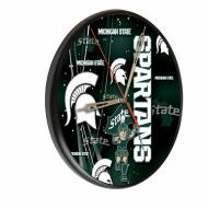 Michigan State Spartans Digitally Printed Wood Clock