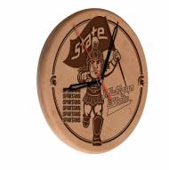 Michigan State Spartans Laser Engraved Wood Clock
