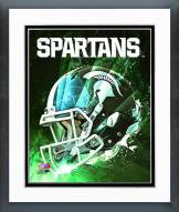 Michigan State Spartans Helmet Composite Framed Photo