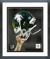 Michigan State Spartans Helmet Spotlight Framed Photo