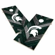 Michigan State Spartans Herringbone Cornhole Game Set