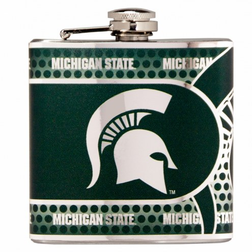 Michigan State Spartans Hi-Def Stainless Steel Flask