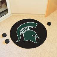 Michigan State Spartans Hockey Puck Mat