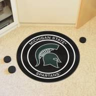 Michigan State Spartans Hockey Puck Mat