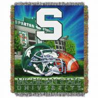 Michigan State Spartans Home Field Advantage Throw Blanket