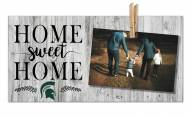 Michigan State Spartans Home Sweet Home Clothespin Frame
