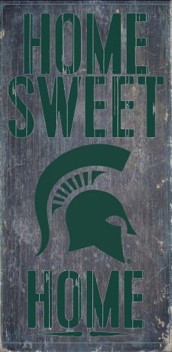 Michigan State Spartans Home Sweet Home Wood Sign