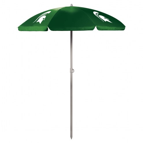 Michigan State Spartans Hunter Green Beach Umbrella