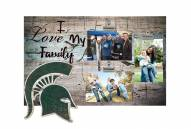 Michigan State Spartans I Love My Family Clip Frame
