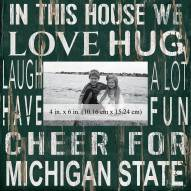 """Michigan State Spartans In This House 10"""" x 10"""" Picture Frame"""