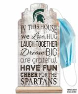 Michigan State Spartans In This House Mask Holder