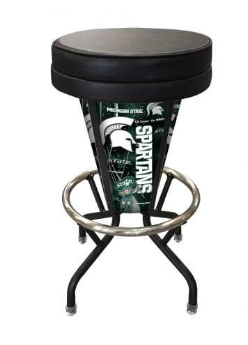 Michigan State Spartans Indoor/Outdoor Lighted Bar Stool