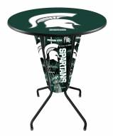 Michigan State Spartans Indoor/Outdoor Lighted Pub Table