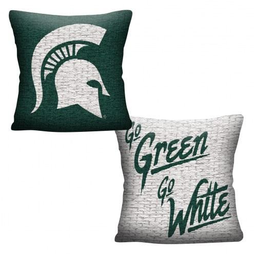 Michigan State Spartans Invert Woven Pillow