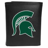 Michigan State Spartans Large Logo Leather Tri-fold Wallet
